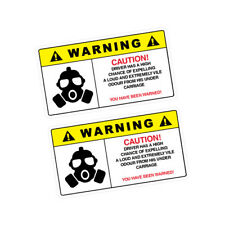 2X WARNING FART Sticker Decal Car Drift Turbo Euro Fast Vinyl #0280A