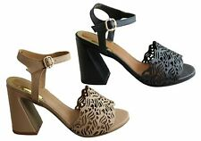 NEW ORCADE MENA WOMENS FASHION LEATHER HEELS SANDALS MADE IN BRAZIL