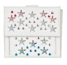 Jimmy Choo Women's White Leather Frida Stars Bi-fold Wallet