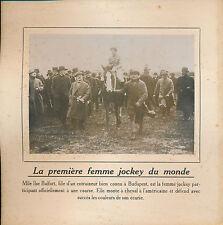PHOTO PRESSE c.1910 - Course Cheval Femme Jockey Budapest Hongrie  - 147