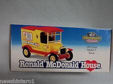 #HH. RONALD McDONALD HOUSE 1912 FORD MODEL T  DIECAST MATCHBOX VAN