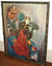 Julian Ritter Rare Painting on Board, Indonesian puppet, Pixie, Fairy