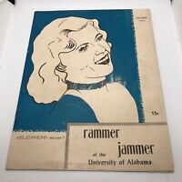 University of Alabama Tuscaloosa OCT 1952 RAMMER JAMMER Student Campus Magazine