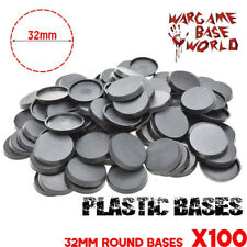 32mm 100pcs Plastic Round Bases Table Games Model Bases For wargame Miniatures