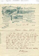 Dépt 37- Tours 39 Rue des Docks- Belle Entête Comptoir Agricole de Touraine 1906
