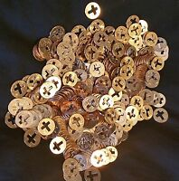 100 Cross Penny's, Pennies for Christian Ministries  + Punch out's 1958 to 2020