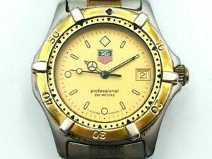 TAG HEUER 2000 PROFESSIONAL 964.013F Gold Plated Mens Swiss Quartz Watch WR200M