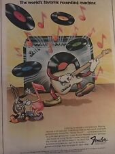 VINTAGE 1973 FENDER AMPS AND GUITARS MADE FOR EACH OTHER ADVERTISE PINUP POSTER