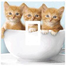 Light Switch Vinyl Sticker Cover Cute Kawaii Cutest Kittens 3