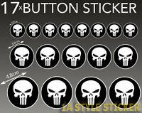 Punisher Aufkleber 17 Stück black Punischer Totenkopf skull Schädel set Sticker