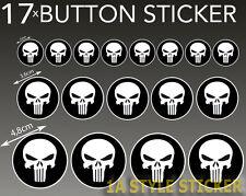 Punischer set 17 trozo punischer pegatinas calavera Skull cráneo hardcore