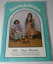 """Dream Spinners Sewing Pattern for 27"""" Seminole Folk Art Rag Doll w clothes"""