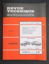 REVUE TECHNIQUE AUTOMOBILE RTA AUTOBIANCHI A 111 65C BLMC MINI n°295