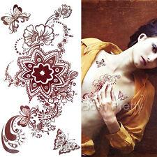 Blumen Einmal Tattoo Körper Tattoo Aufkleber Hauttattoo Körper Schmuck #HM670