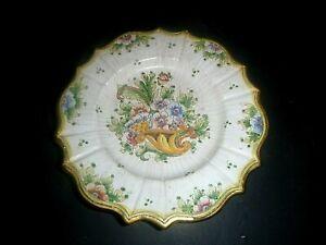 Vintage Gialletti Giulio Deruta Italy Hand painted Plate Ceramic Del A Mano 8.75