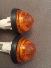 COPPIA PORTA LAMPADA + Plastica Gialla Per FRECCE LATERALI 128 COUPE' - NUOVE