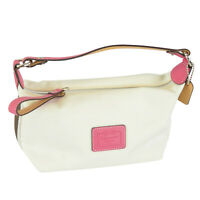 Coach hamptons Demi Pouch Bag White Pink FS1791