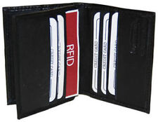 RFID Blocking Safe Genuine Men Leather Card ID Credit Card 9+ Center Flap Wallet