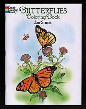 Butterflies  Coloring Book  MINT - Adults & Kids - NEW  Free S/H  Offer Avail.