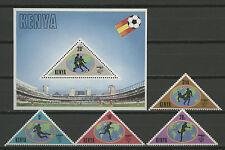 El fútbol WM 1982, soccer-kenia - 222-225, bl.18 ** mnh