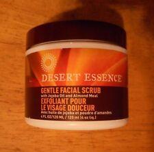 4oz DESERT ESSENCE GENTLE FACIAL SCRUB w/ jojoba oil and almond meal SEALED