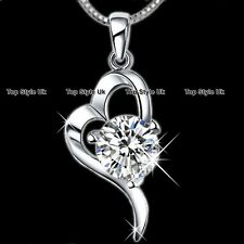 XMAS SALE GIFTS FOR HER Diamond Heart Necklace Women Girls Mum Wife Daughter K7
