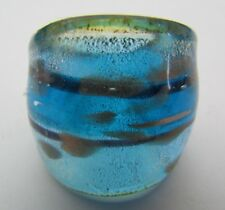 Glass Ring. Uk-P/Q.Us-7.75 (149!) A Blue/Silver/Gold Murano Style