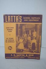 Vintage Latta's School Supplies And Equipment Catalog 1949-1950 School Year