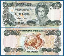 BAHAMAS 1/2 Dollar  (1984)  UNC  P. 42