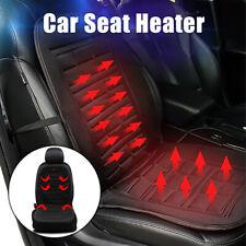 Universal Black Car Heated Seat Cover Heater Hot Pad Chair Cushion Warmer Winter