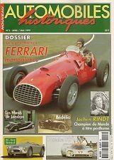 AUTOMOBILES HISTORIQUES 2 MONOPLACES FERRARI 1948 53 AC ACE BRISTOL BEDELIA