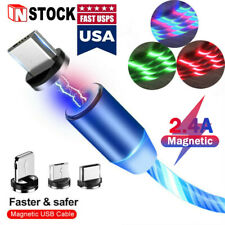 3 in 1 Magnetic Charger Cable Fast Charging Micro USB Type C For iPhone Samsung