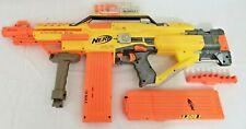 NERF N-Strike Stampede ECS Auto Blaster Dart Gun w/ 18 Magazines & attachments