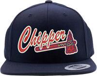 Atlanta Braves Chipper Jones Logo Embroidered Snapback Hat