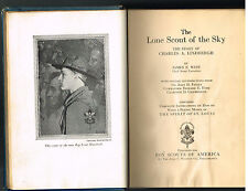 The Lone Scout of the Sky Charles Lindbergh ~ James West 1928 Vintage Book! $