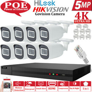 HIKVISION 8MP CCTV SYSTEM IP POE UHD NVR FULL 4K 5MP  NIGHT VISION CAMERA KIT