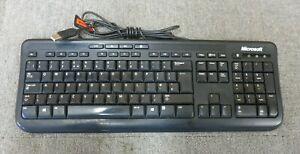Microsoft X823078-003 MSK-1366 USB Wired Black 104-key UK QWERTY Keyboard