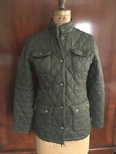 Barbour Women's Quilted Jacket Army Green US Size 4