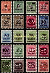 EBS Germany 1923 - Inflation Overprints (I) - Michel 277-296 MNH**