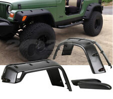 POCKET STYLE 6PCS FENDER FLARES BLACK TEXTURED FINISH FOR 97-06 JEEP WRANGLER TJ