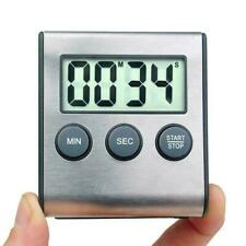Stainless Steel Magnetic Kitchen LCD Digital Timer Cooking 99 a Minute Q5P6