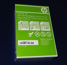 "50 Sheets HP Vivid 4"" x 6"" (10 x 15cm) matte Photo Paper P/N: CG465A"