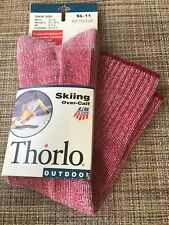 Thorlo Ski Socks Red Vintage 1996 Over-Calf Unisex Skiing Thermax