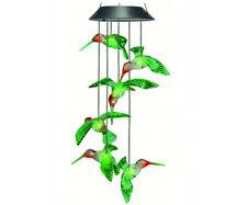 Solar Painted Hummingbird Mobile -6 x 6 x 25'' - Hummingbird ornament 6 LED