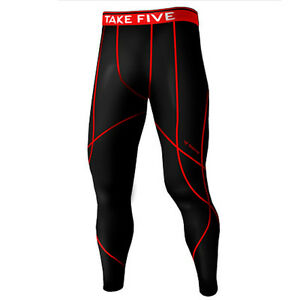 Take Five Mens Skin Tight Compression Base Layer Running Pants Leggings NP536