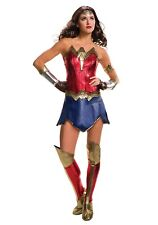 DELUXE ADULT DAWN OF JUSTICE WONDER WOMAN COSTUME WITH DEFECT  size XSmall
