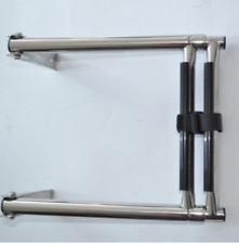 2 Step Stainless Steel Telescoping Marine Boat Yacht Ladder Upper Platform