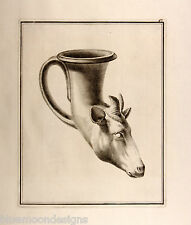 William Hamilton 1801 apulian goat's Head Rhyton antiguedad necesitará cabra jarrón