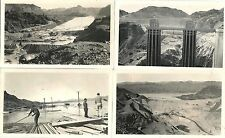 "Lot of 16 BW 3 ½"" x 6"" Original Photos of the Construction of Hoover Dam 1930s"