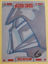 topps DARTH VADER artist sketch card GRANT GOULD star wars 30TH ANNIVERSARY anh